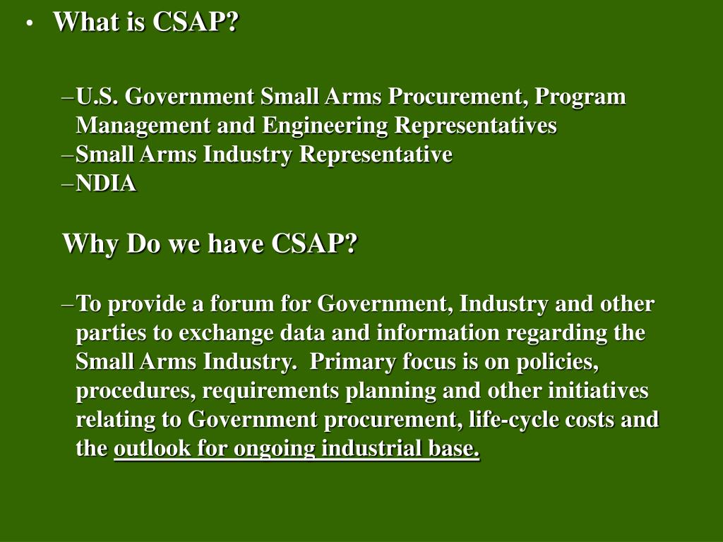 What is CSAP?