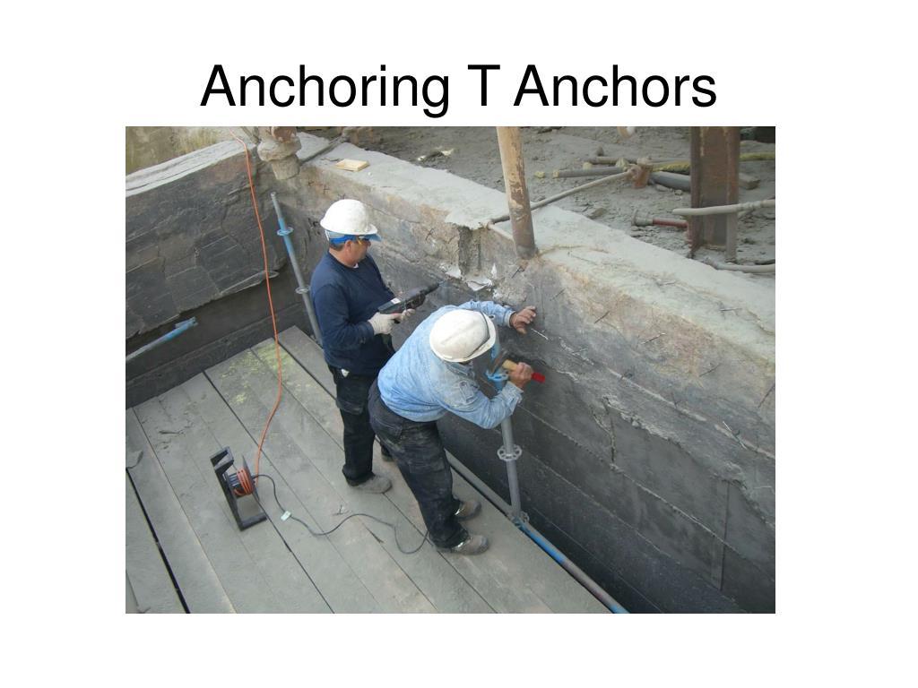 Anchoring T Anchors