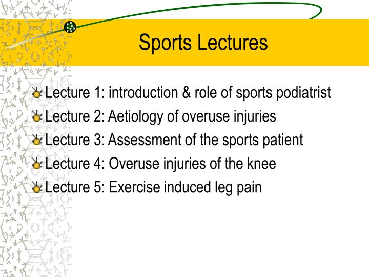 Sports lectures