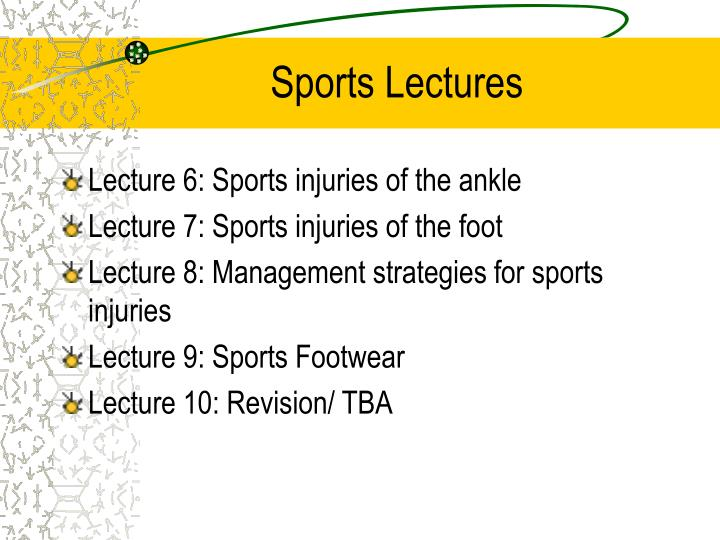 Sports lectures2