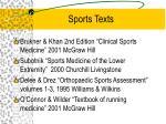 sports texts