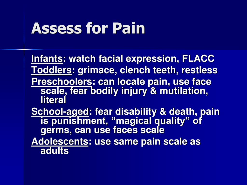 Assess for Pain