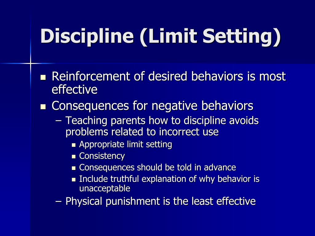 Discipline (Limit Setting)