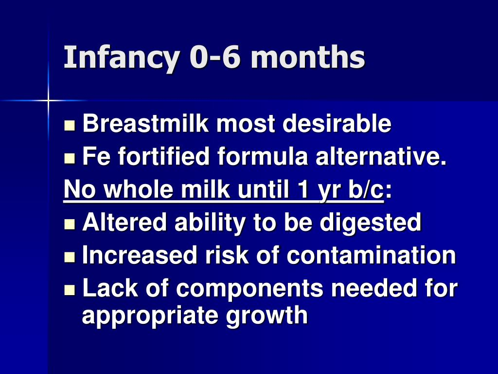 Infancy 0-6 months