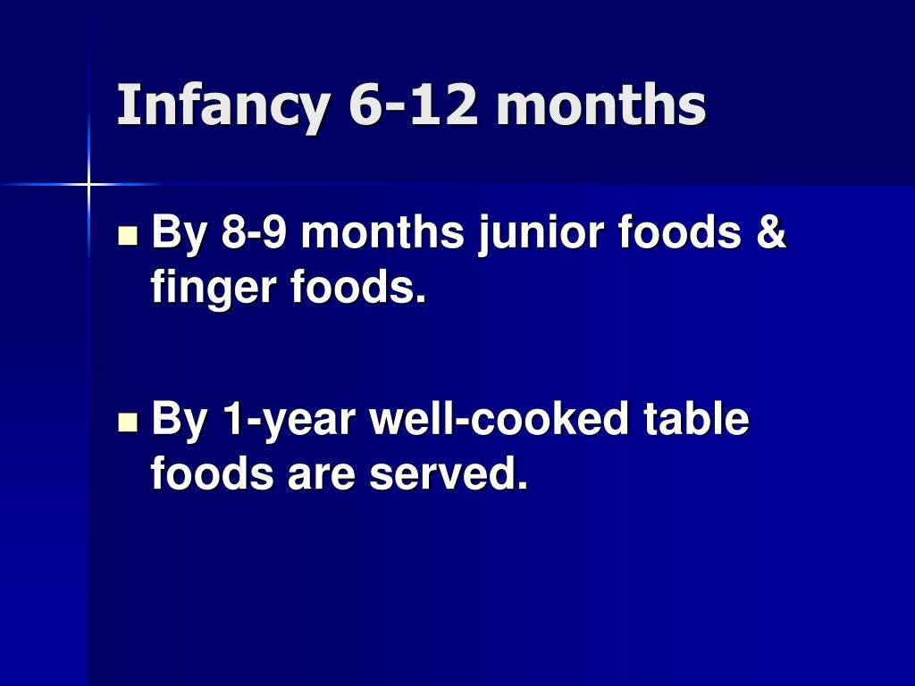 Infancy 6-12 months