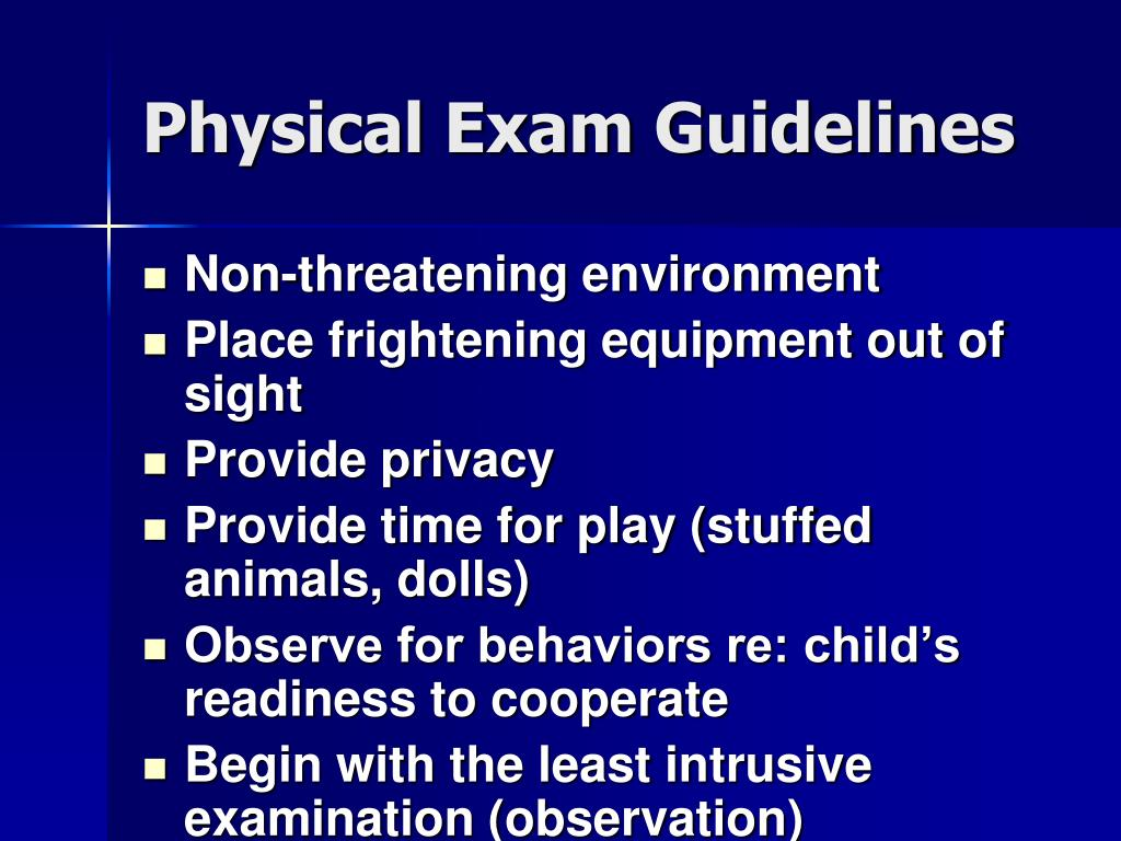 Physical Exam Guidelines