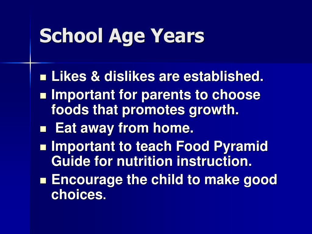 School Age Years