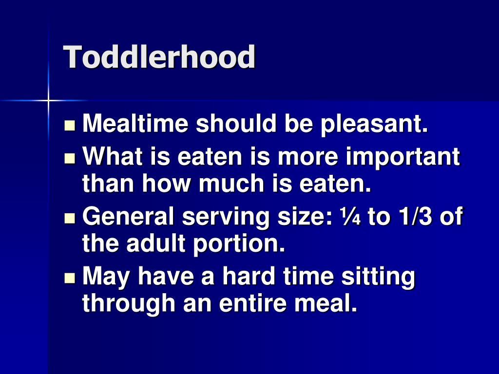 Toddlerhood