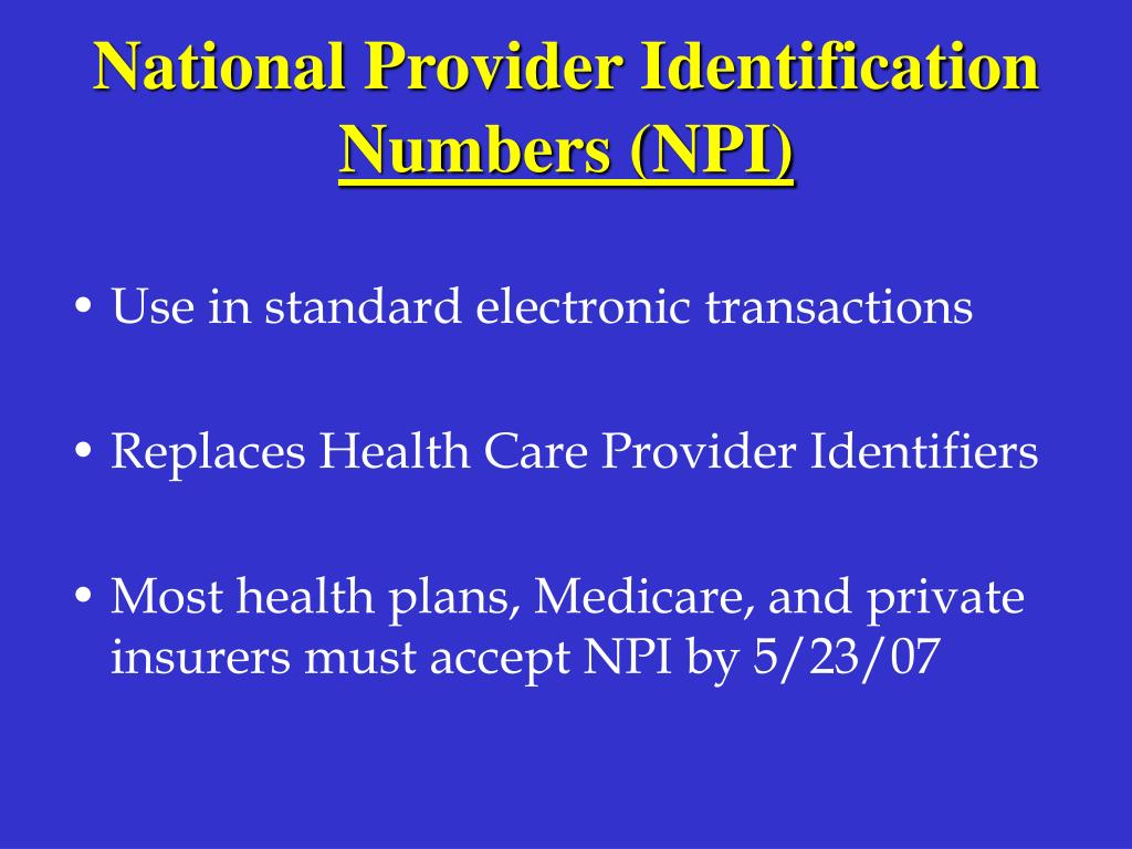 National Provider Identification