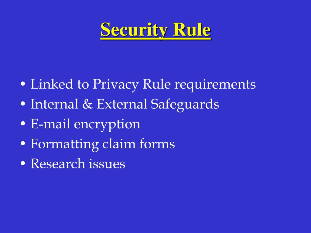 Security Rule