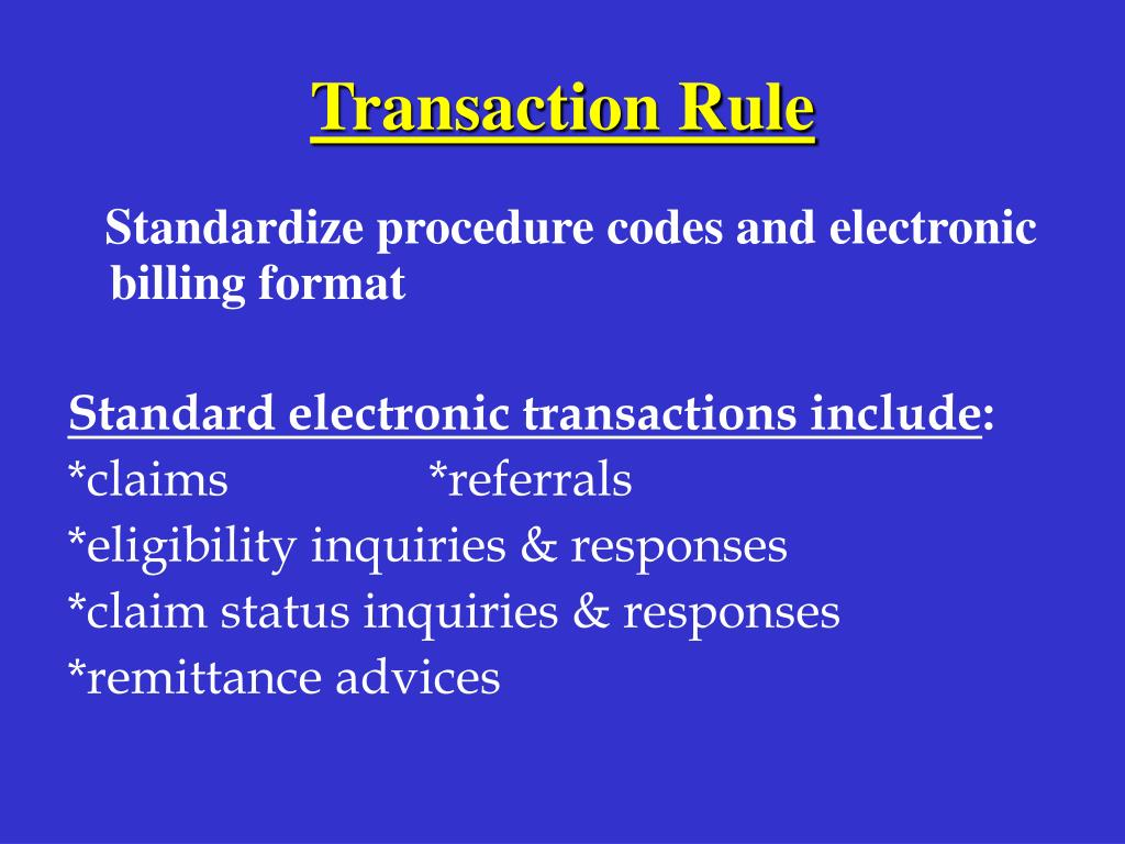 Transaction Rule