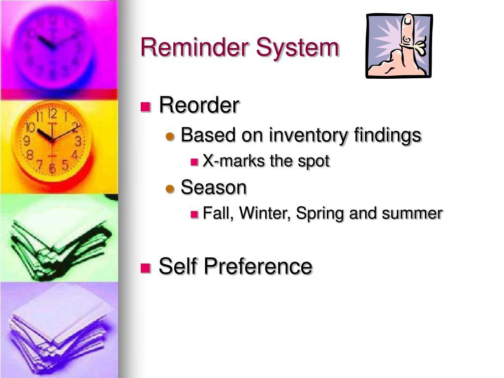 Reminder System
