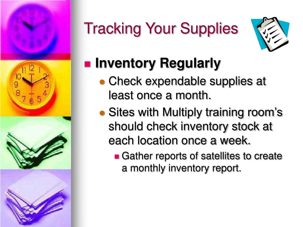 Tracking Your Supplies