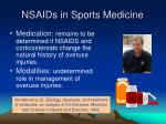 nsaids in sports medicine