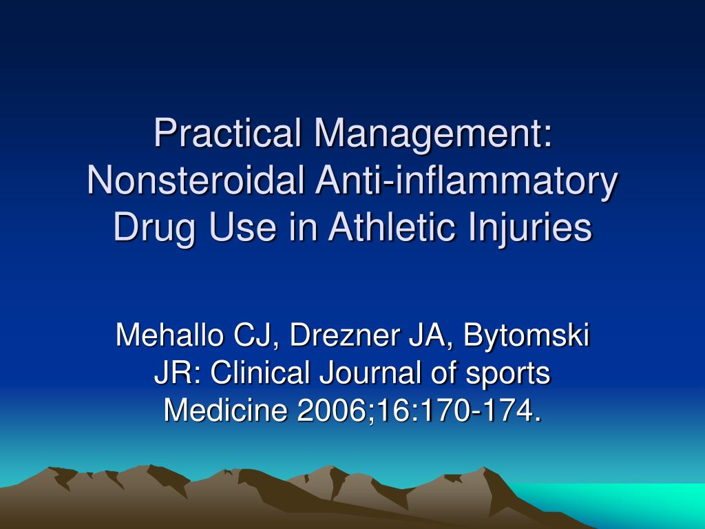 Practical Management: Nonsteroidal Anti-inflammatory Drug Use in Athletic Injuries