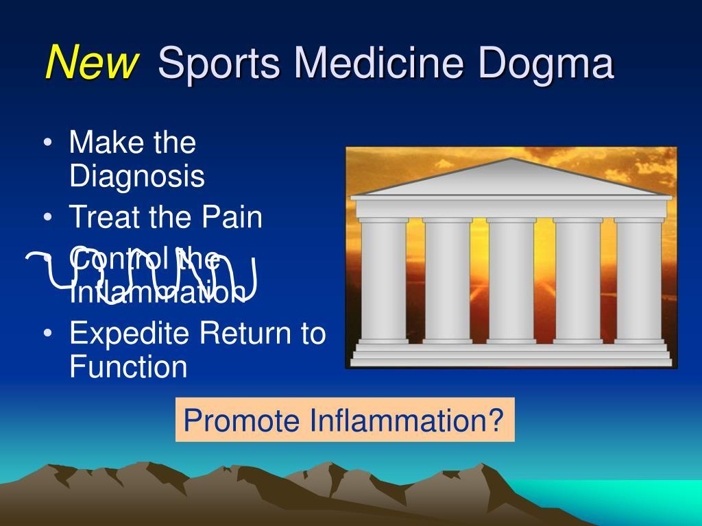 Sports Medicine Dogma