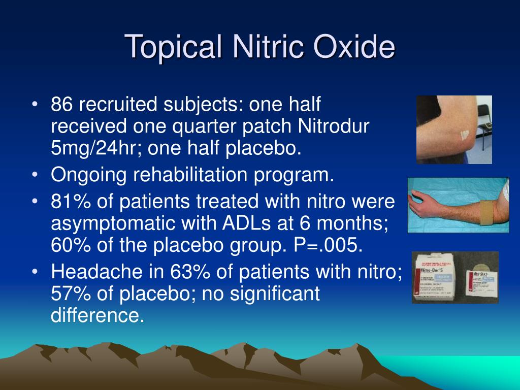 Topical Nitric Oxide