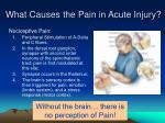 what causes the pain in acute injury