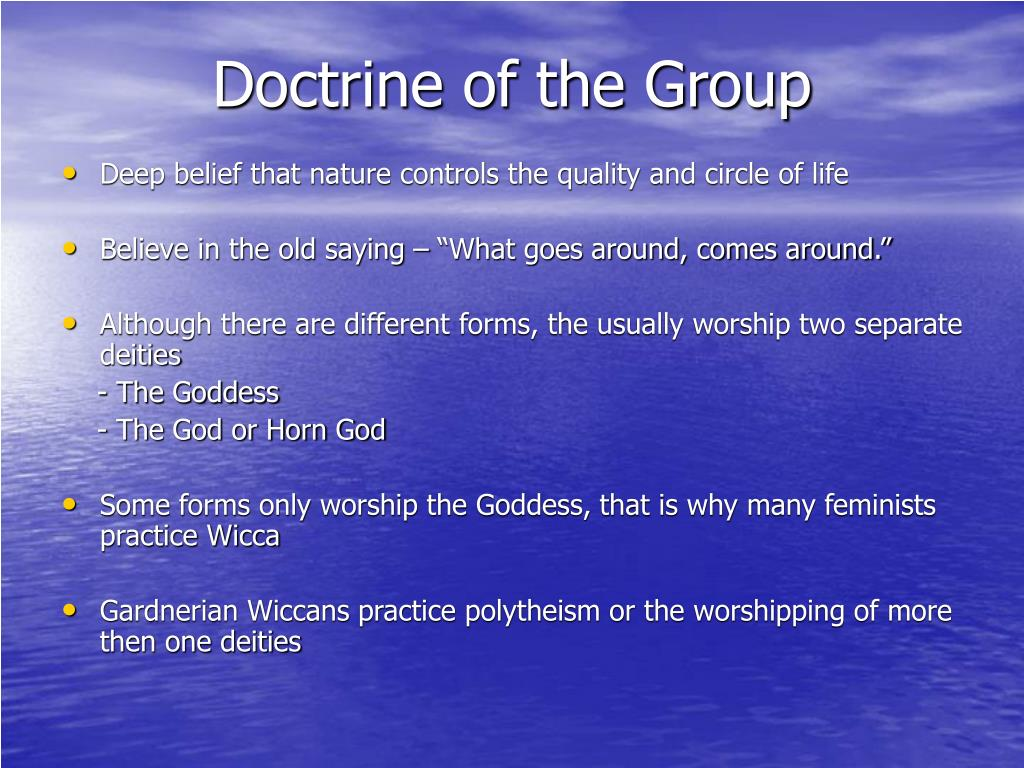Doctrine of the Group