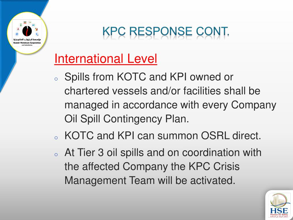 oil spill contingency plan pdf