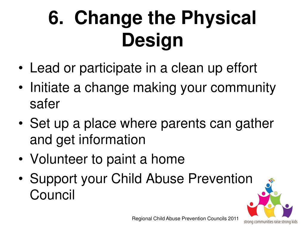 6.  Change the Physical Design