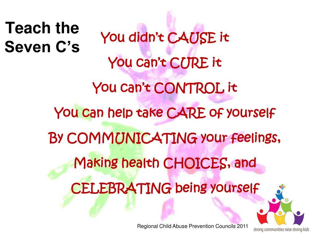 Teach the Seven C's
