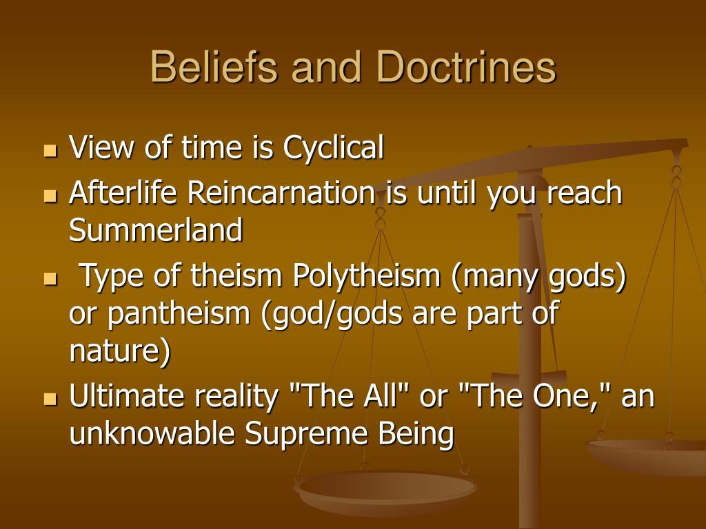 Beliefs and Doctrines