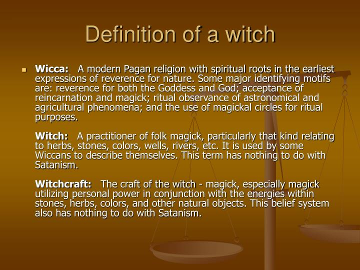 Definition of a witch