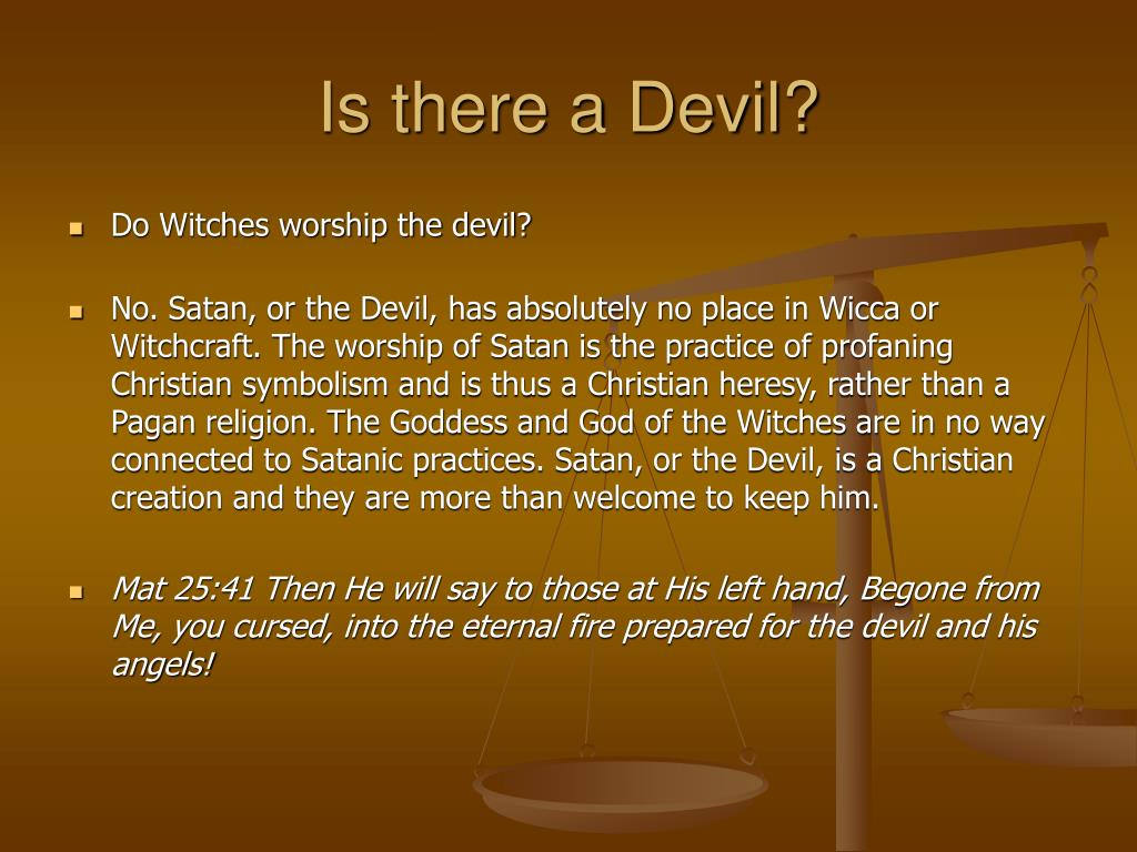 Is there a Devil?