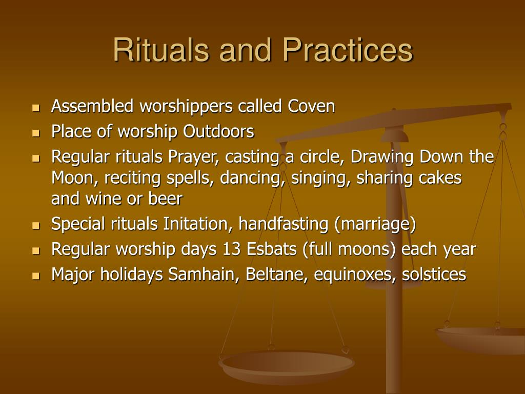 Rituals and Practices