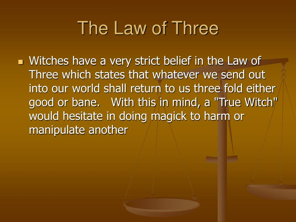 The Law of Three