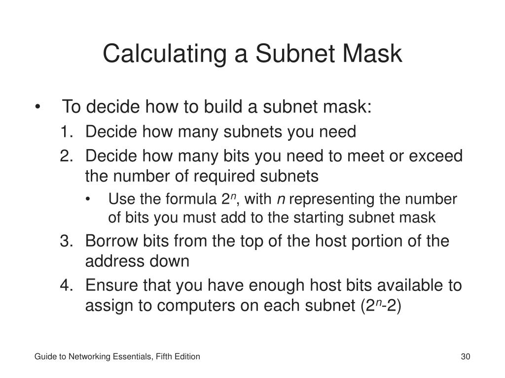 Calculating Subnet Mask 22