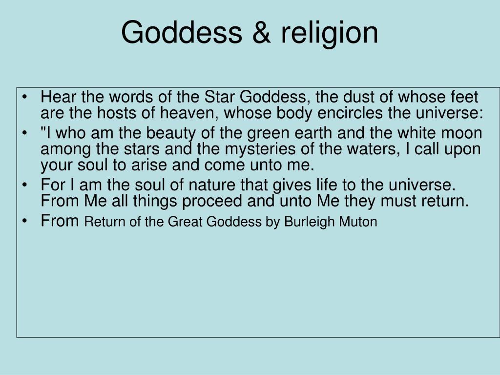 Goddess & religion