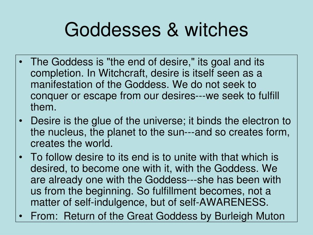 Goddesses & witches
