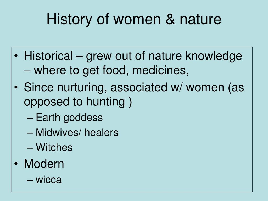 History of women & nature