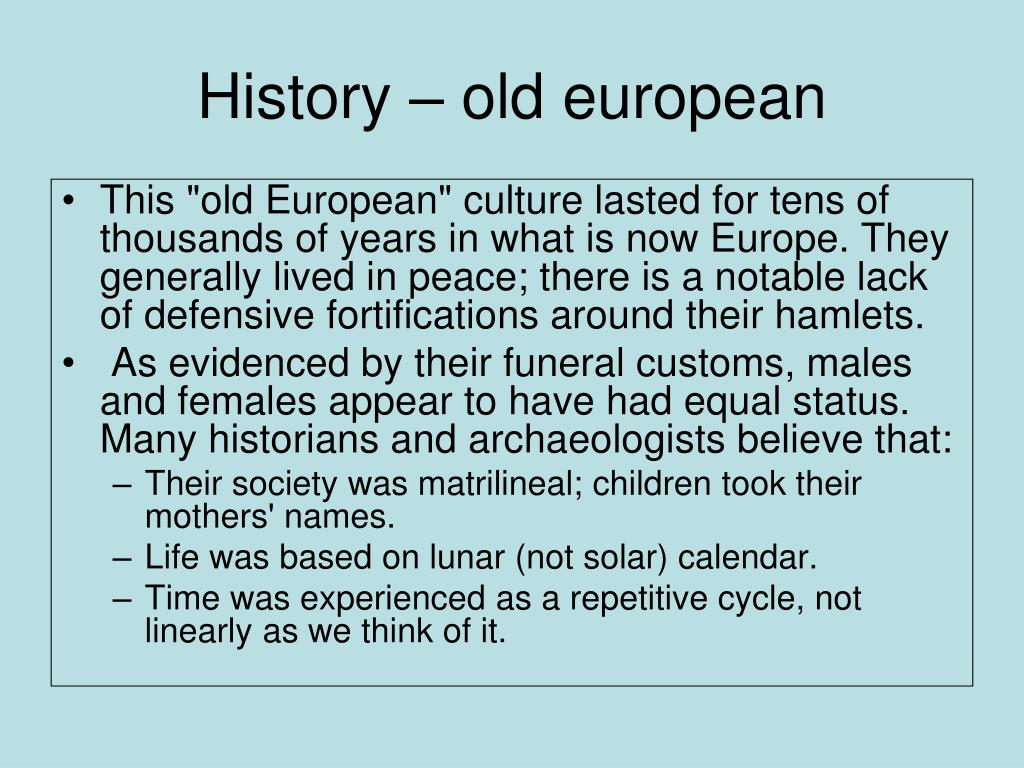 History – old european