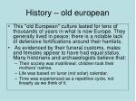 history old european