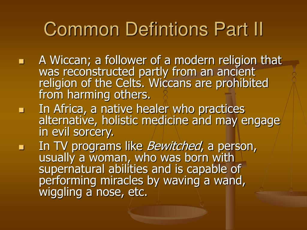 Common Defintions Part II
