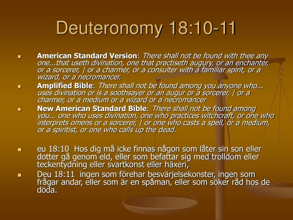 Deuteronomy 18:10-11