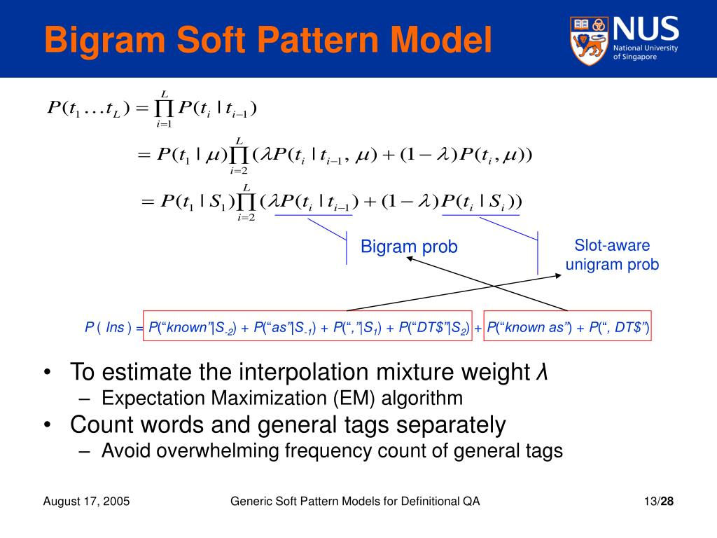 Bigram Soft Pattern Model