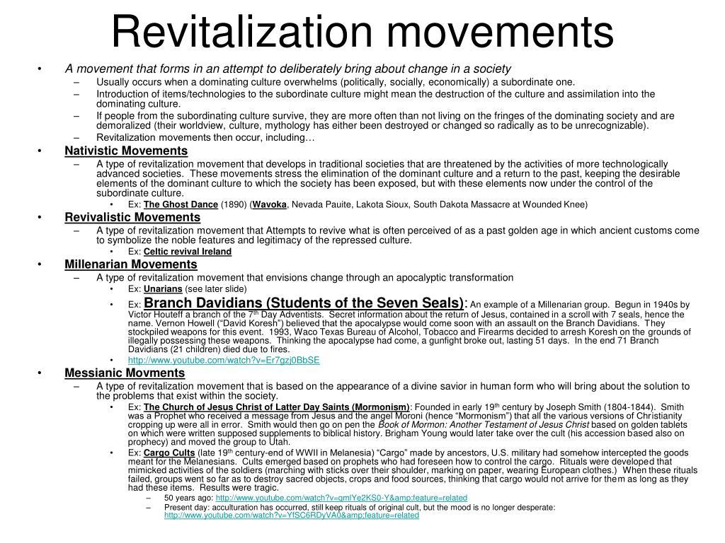 Revitalization movements