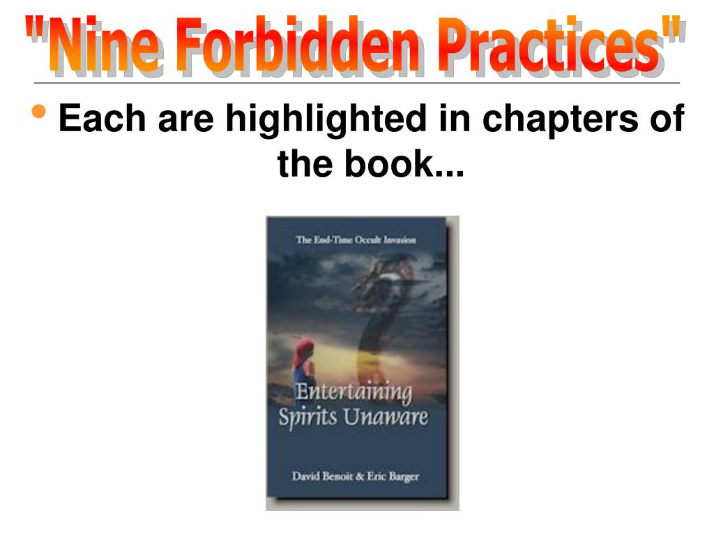 """Nine Forbidden Practices"""