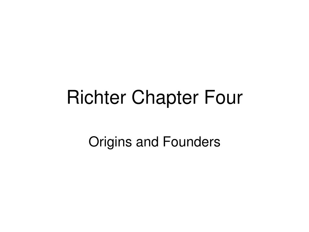 richter chapter four