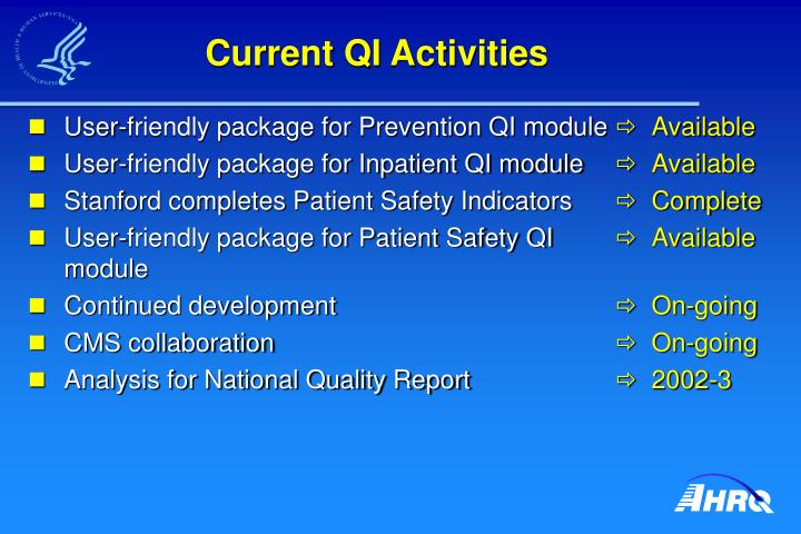 User-friendly package for Prevention QI module