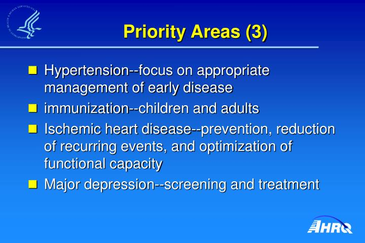 Priority Areas (3)