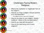 challenges facing modern religions