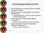 eschatological movements