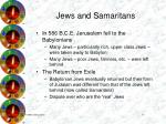 jews and samaritans