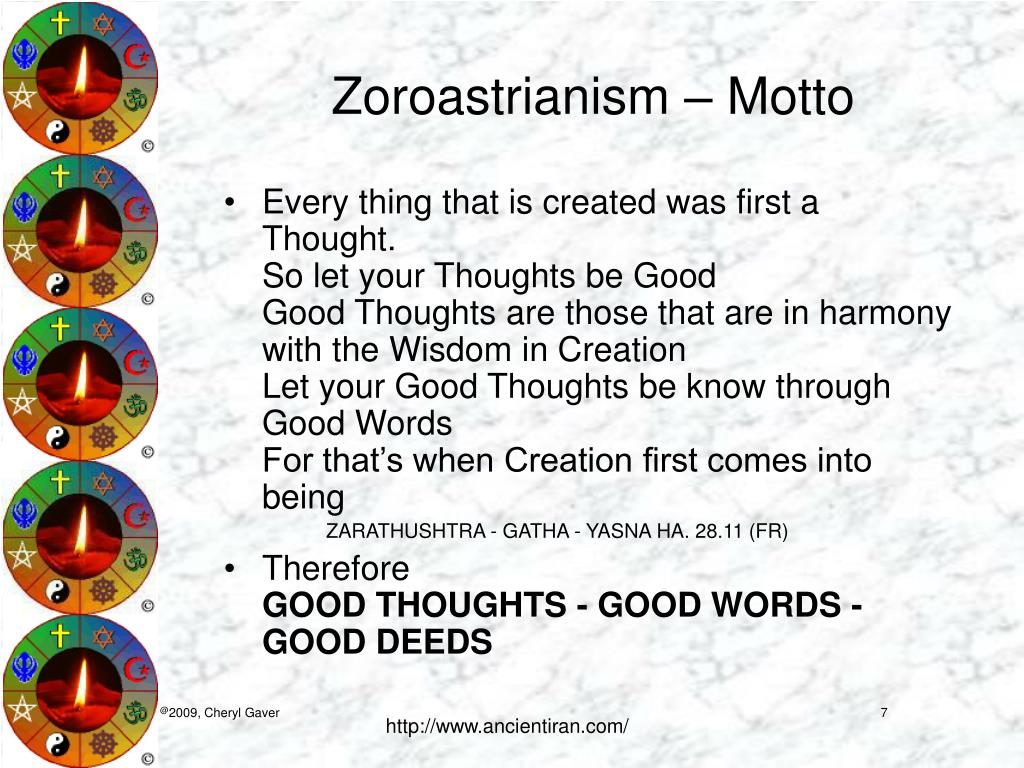 Zoroastrianism – Motto