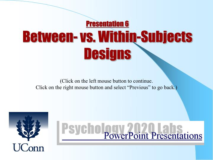 between vs within subjects designs essay